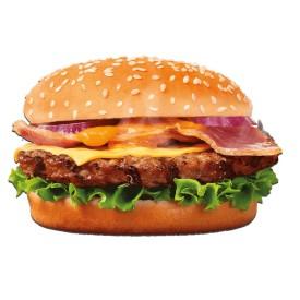 """Бургер с беконом """"Montana"""" + картофель на выбор"""
