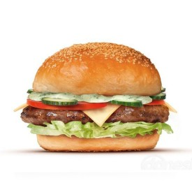 """Бургер с сыром Мацаррело """"Сaprese"""" + картофель на выбор"""