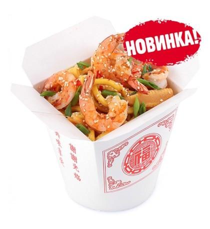Лапша Wok - Креветки в соусе по-сычуански