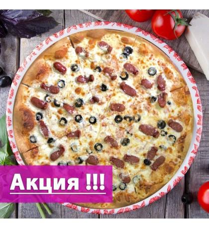 """Пицца """"с Охотничьей колбаской"""" 38cм. (Акция)"""