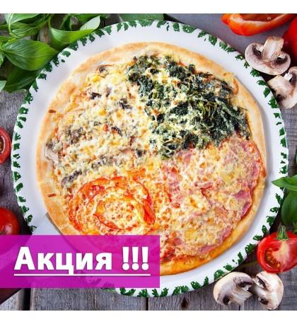 "Пицца Выбор - ""Две Пиццы - за 995 Рублей"". Размер - Ø 38 cм."